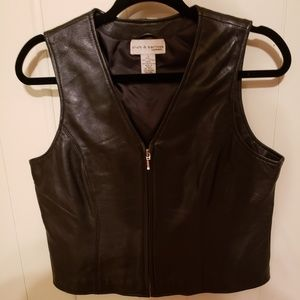 Croft and Barrow leather lambskin vest